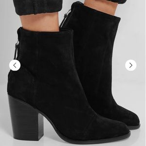 RAG & BONE Ashby Black suede ankle boots